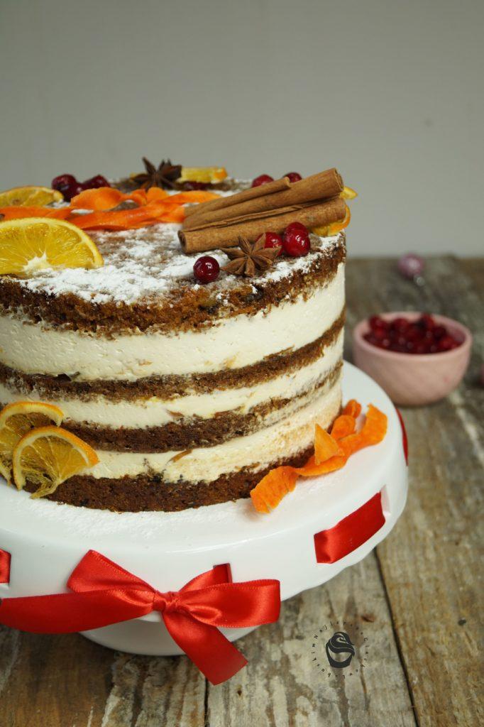 Boże narodzenie tort marchewkowy, 2020 na zamówienie